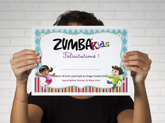 Diplôme Zumba Kids