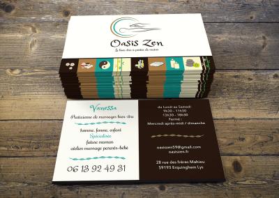 Carte De Visite Oasis Zen